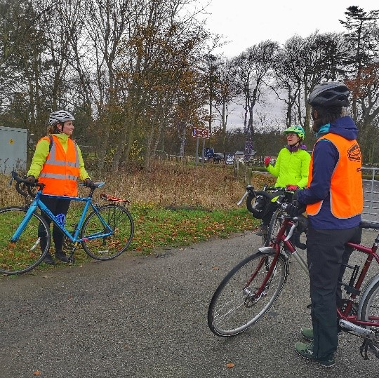 Cycle Ride Leaders Leading the Way