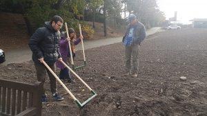 Elliott supervising fork digging at the Kernel
